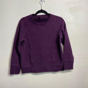 Lululemon Purple Double Pocket Crewneck Sweater